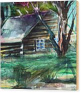 Summer Cabin Wood Print by Mindy Newman