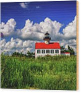 Summer Clouds At East Point Wood Print
