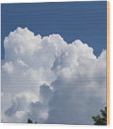 Summer Clouds In Maine Wood Print