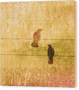 Summer Crows Wood Print