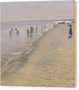 Summer Day At The South Beach Of Skagen Wood Print
