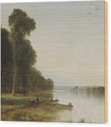 Summer Day On Conesus Wood Print