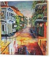 Summer Day On Royal Street Wood Print