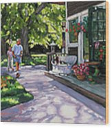 Summer Day On The Cape Wood Print by Laura Lee Zanghetti