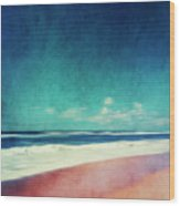 Summer Days IIi - Abstract Beach Scene Wood Print