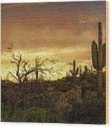 Summer Desert Skies  Wood Print