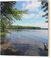 Summer Dreaming On Lake Umbagog  Wood Print