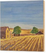 Summer Farm Wood Print