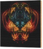 10644 - Summer Fire Mask 44 - The Battle Imp Wood Print