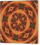 10697 Summer Fire Mask 54 Kaleidoscope 2 Wood Print