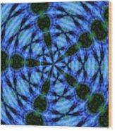 10716 Summer Fire Mask 54 Kaleidoscope 5 Wood Print
