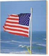 Summer Flag Wood Print