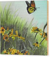 Summer Flight Wood Print
