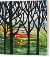 Summer Forest Abstract  Wood Print