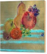 Summer Fruit Wood Print