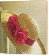 Summer Hat Wood Print