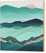 Summer Hills Wood Print