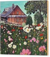 Summer House Wood Print