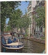 Summer In Amsterdam-1 Wood Print