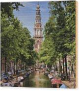 Summer In Amsterdam-2 Wood Print
