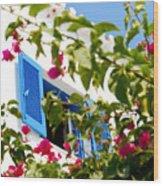 Summer In Greece Wood Print
