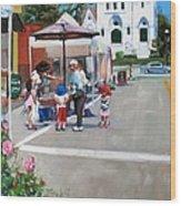 Summer In Hingham Wood Print