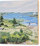 Summer In Lunenburg Harbour Wood Print