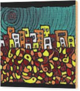 Summer In The City Wood Print