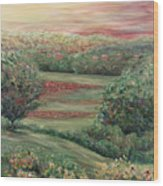 Summer In Tuscany Wood Print