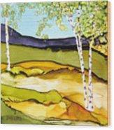Summer Landscape I Wood Print