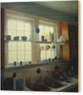Summer Light In The Kitchen Wood Print
