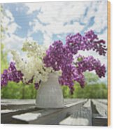Summer Lilacs Wood Print