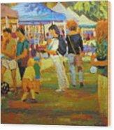 Summer Market Wood Print
