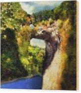 Summer Morning, Natural Bridge Wood Print