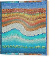 Summer Mosaic Wood Print