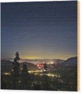 Summer Night South Lake Tahoe Wood Print