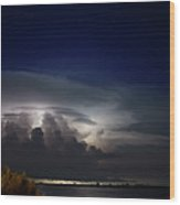 Summer Night Storms Wood Print