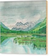Summer Of Alaska Wood Print