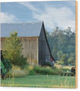 Summer On The Farm Wood Print by Barbara  White