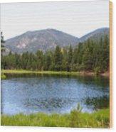 Summer On The Lake Wood Print