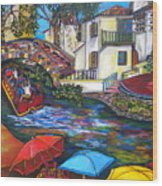 Summer On The River Wood Print