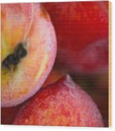 Summer Peaches Wood Print