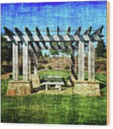 Summer Pergola Rest Spot Wood Print