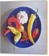 Summer Plate 1 Wood Print