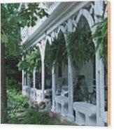 Summer Porch Wood Print