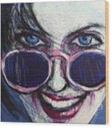 Summer - Portrait Of A Woman Wood Print