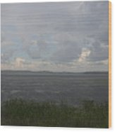 Summer Rain On Plymouth Pond Maine Wood Print