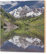 Maroon Bells Aspen Colorado Summer Reflections Wood Print