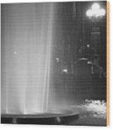 Summer Romance - Washington Square Park Fountain At Night Wood Print