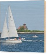 Summer Sail Wood Print
